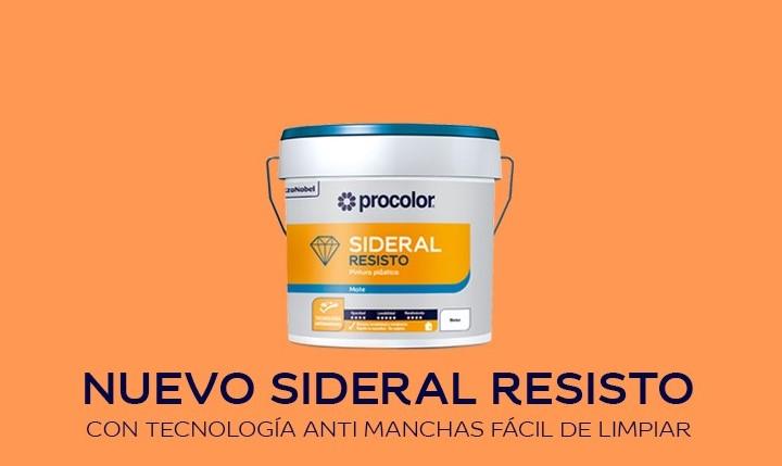 SIDERAL RESISTO PROCOLOR la nueva pintura plástica con tecnología antimanchas